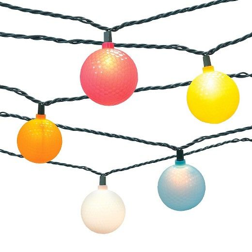 10ct Indoor/Outdoor Golf Ball String Lights  Target  sc 1 st  Pinterest & 10ct Indoor/Outdoor Golf Ball String Lights : Target   Fun possibly ...