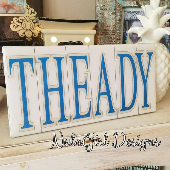 French Wedding Gifts: New Orleans Blue And White Letter Home Decor, Wedding Gift