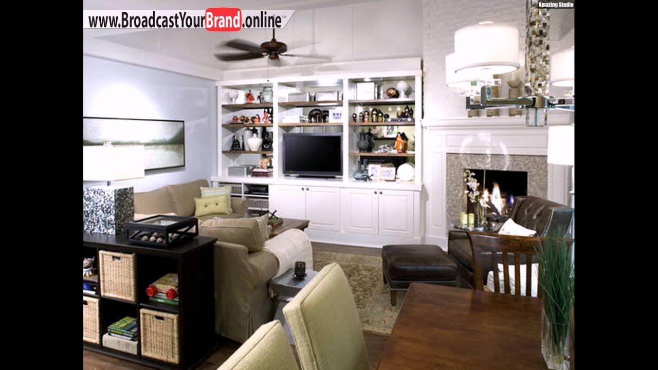 wohnzimmer design ideen offene küche wohnwand - youtube