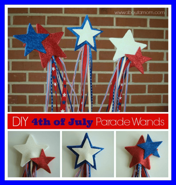 Fourth Of July Craft Ideas For Kids Part - 23: 4th Of July Parade Wand Craft - 4th Of July Crafts For Kids