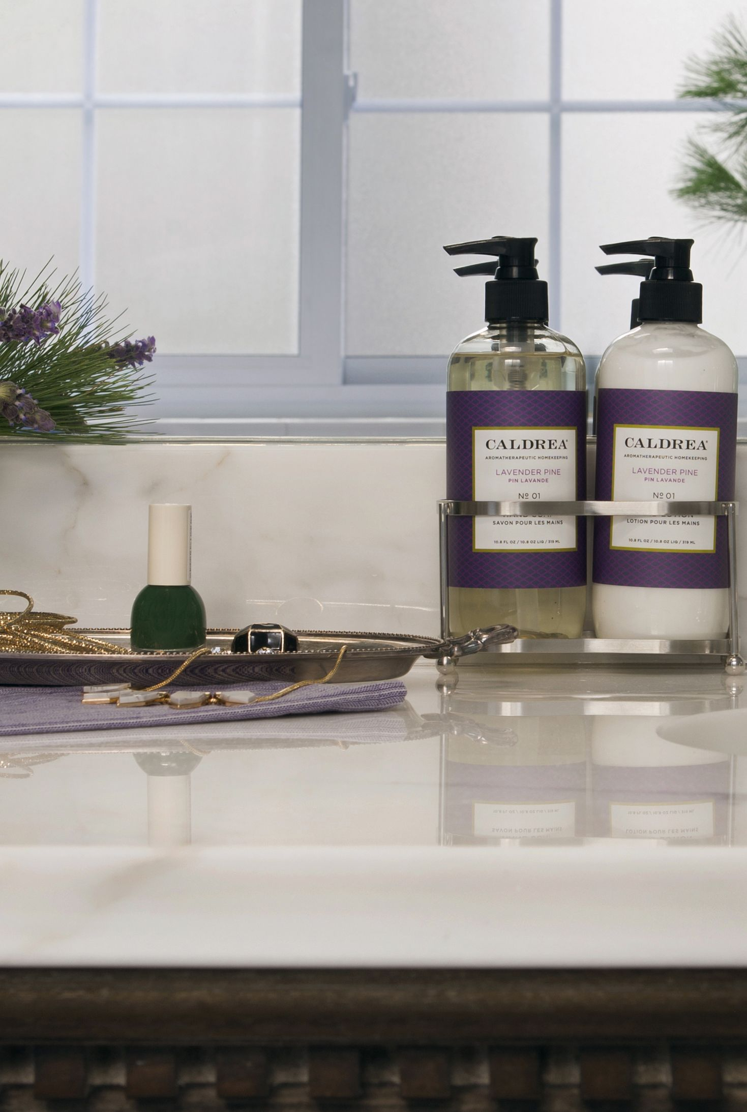 The Perfect Pairing To Unearth A Quiet Moment Of Serenity Our Lavender Pine Stainless Sink Set Featuring Hand Soap And Stainless Sink Soap Gift Set Soap Gift
