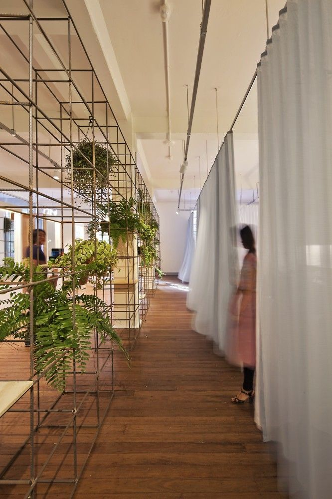 Themeing Wireframe Partition Wall Planter Books Objects Lighting Etc Design Green Wall Modern Interior Design