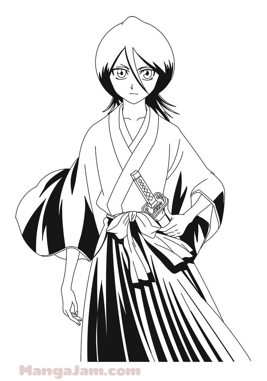 How Draw Rukia Kuchiki Bleach 10 Drawings Bleach Draw