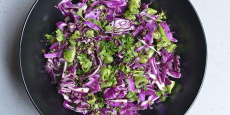 Red cabbage sugar snap peas black quinoa salad receta forumfinder Image collections