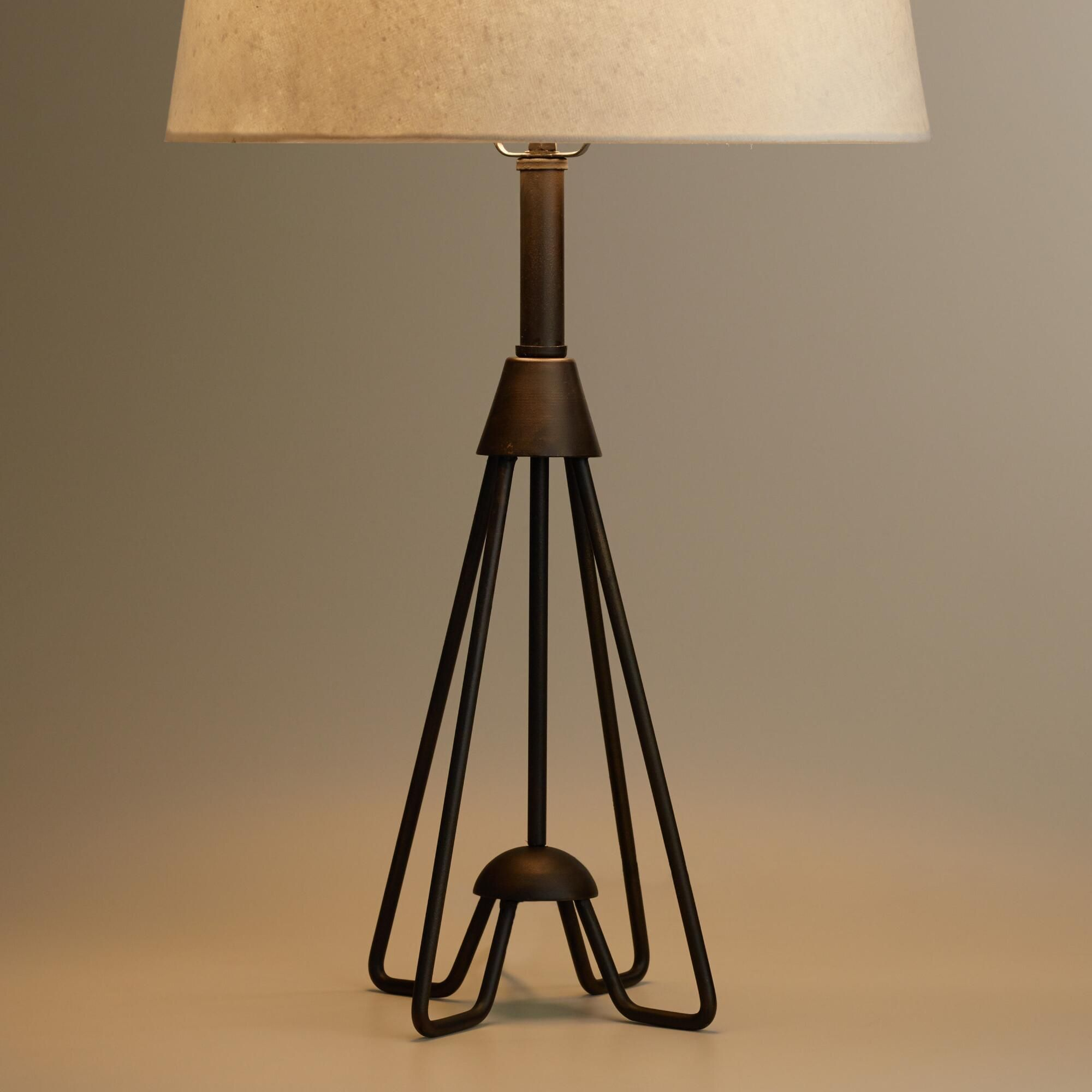 Crafted Of Iron With A Black Finish And An Open Design, Our Exclusive Table  Lamp