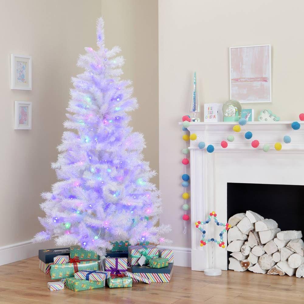 Buy Argos Home 6ft Pre Lit Iridescent Christmas Tree White Christmas Trees Argos White Artificial Christmas Tree 6ft Christmas Tree Christmas Tree