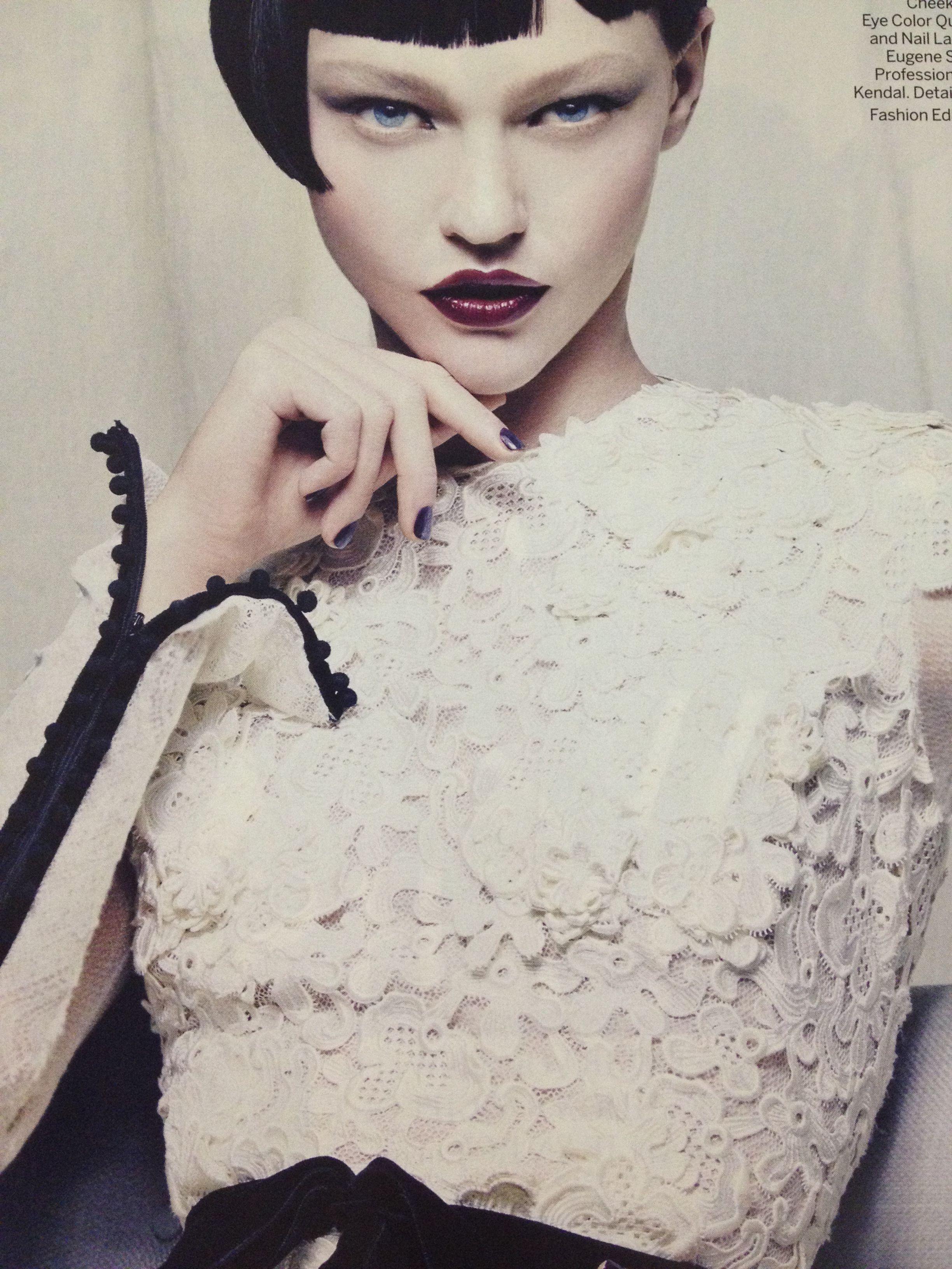 Sasha pivovarova in tom ford lip black orchid cheek love lust