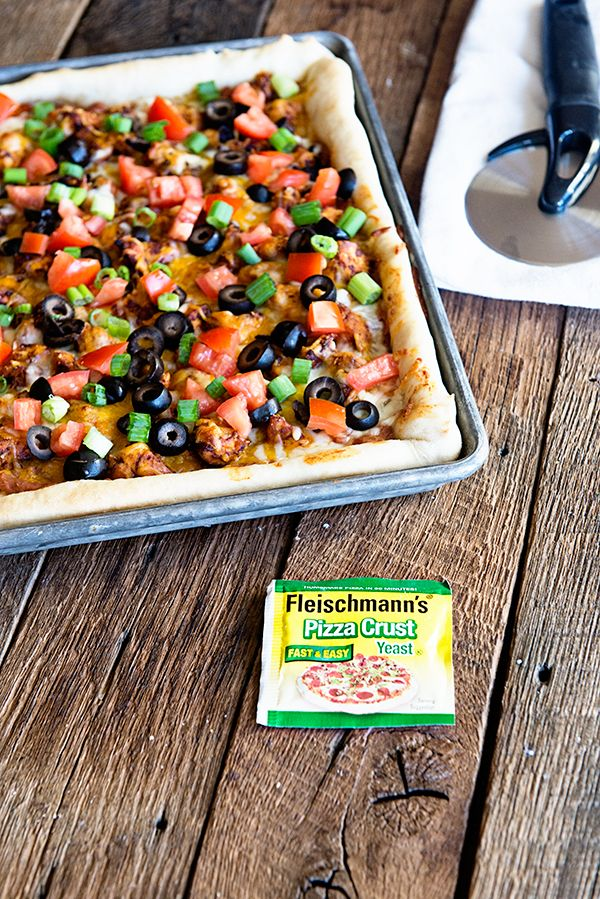 Chicken Nacho Pizza from dineanddish.net #BakeALittleExtra #spon