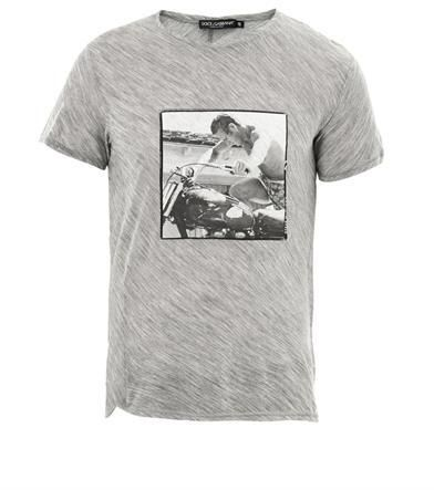 fdd142da6064b1 Dolce & Gabbana Steve McQueen-print T-shirt on shopstyle.co.uk ...