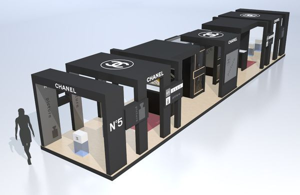 Exhibition Stall Banner : Quot chanel exhibition stand on the behance network
