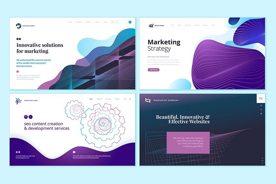 Web Page Abstract Design Templates In 2020 Template Design Website Design Responsive Design Template