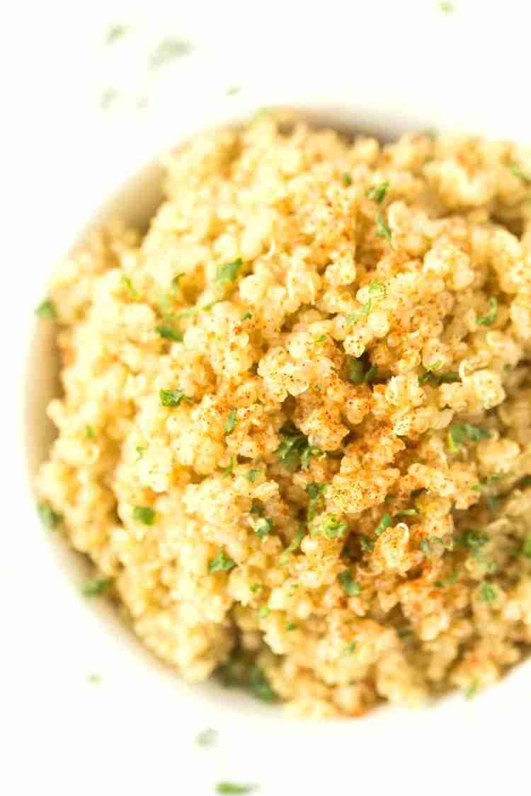 5-Ingredient Garlic Butter Quinoa –