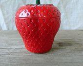 Vintage Hazel-Atlas strawberry jam/jelly jar