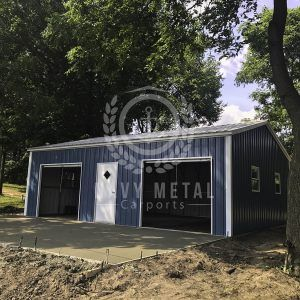 Metal Garages in OH, IN, and MI | Metal garages, Prefab ...