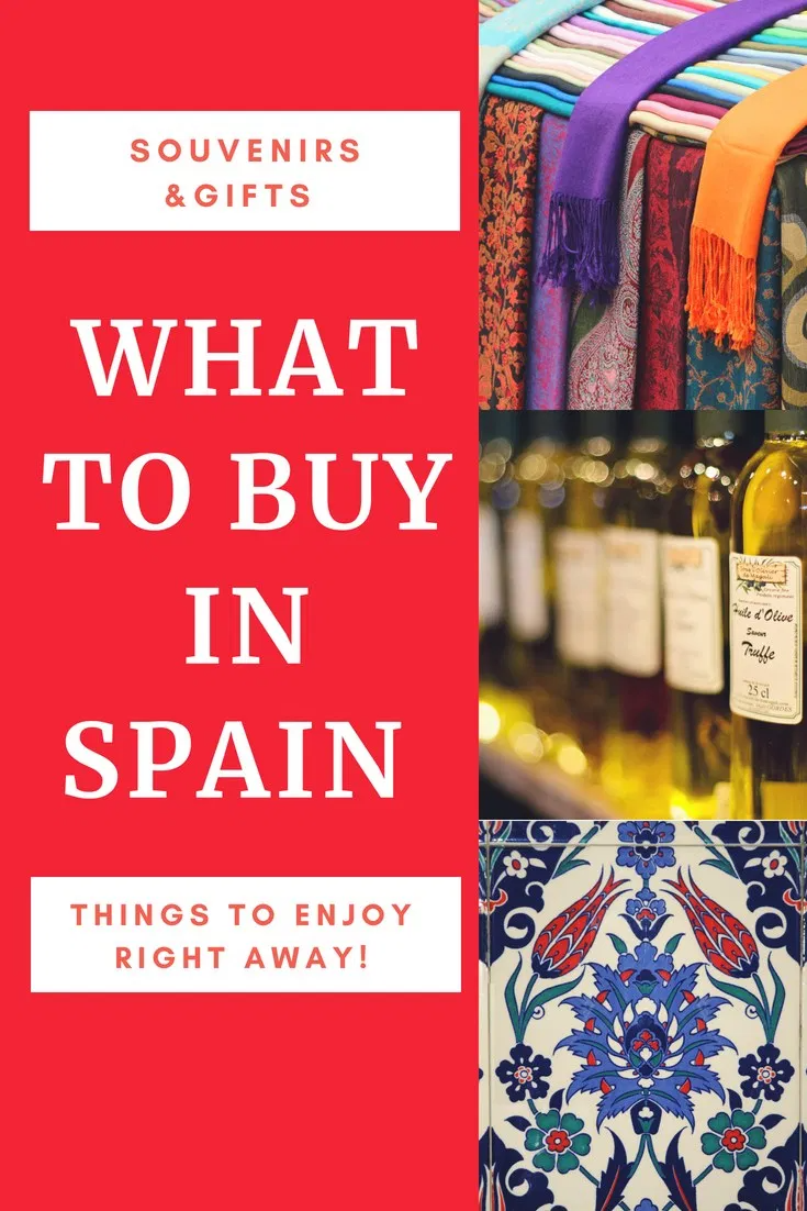 What To Buy In Spain, Souvenirs, Gifts & Things To Enjoy Right Away!