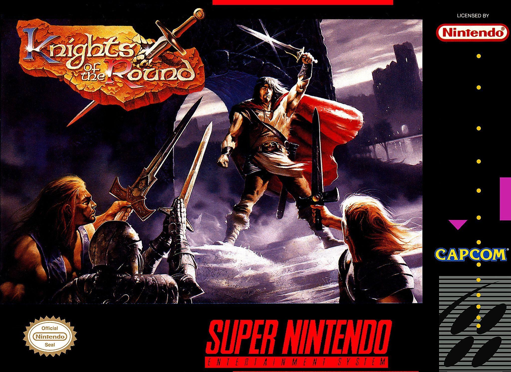 Knights Of The Round Snes Super Nintendo Repro Cart W Mini Box Manual Game Boy Nintendo Juegos Retro