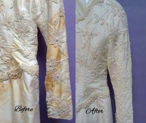 Wedding gown restoration