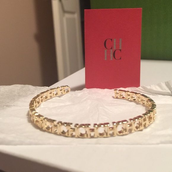Carolina Herrera Bracelet Brand New With Tags Authentic Ch In Gold Jewelry Bracelets