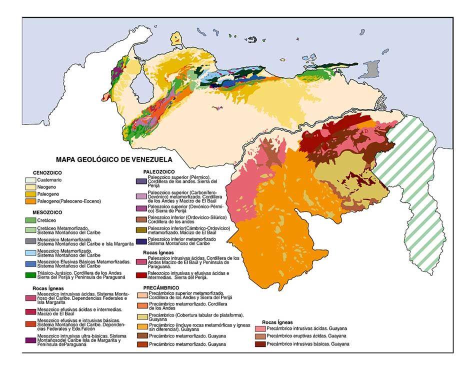 Mapa Geologico De Venezuela In 2021 Map Cartography Venezuela
