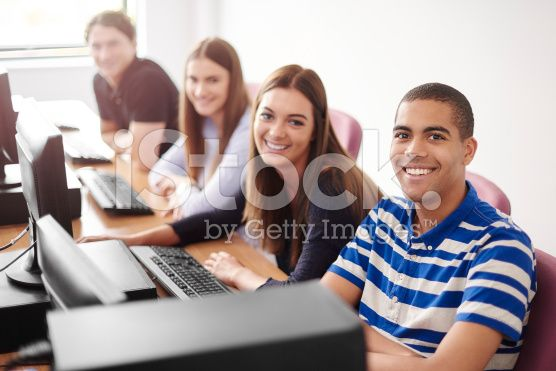 Computer Class College Students Royalty Free Stock Photo