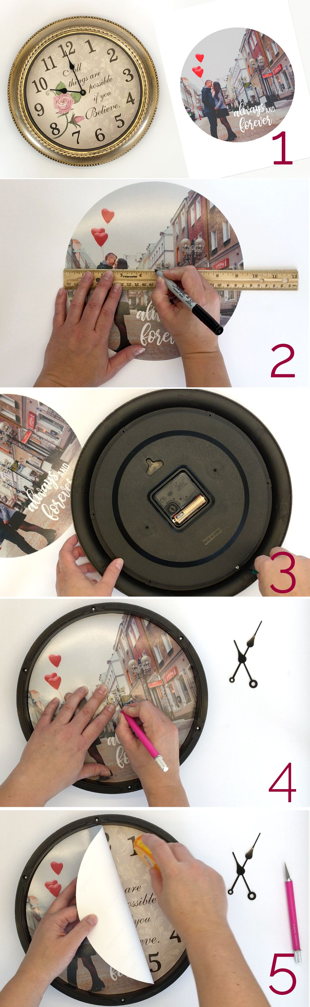 how to make a DIY personalized photo clock Diy wedding