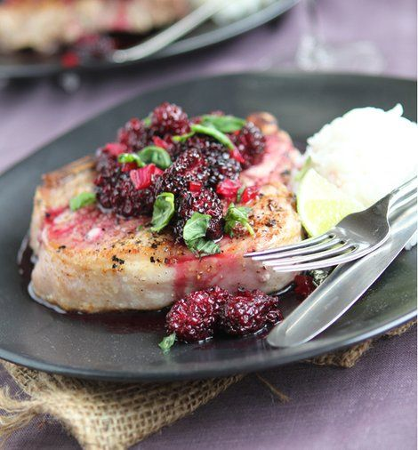 Hot Off The Grill! Make Pork Chops With Blackberry Sweet