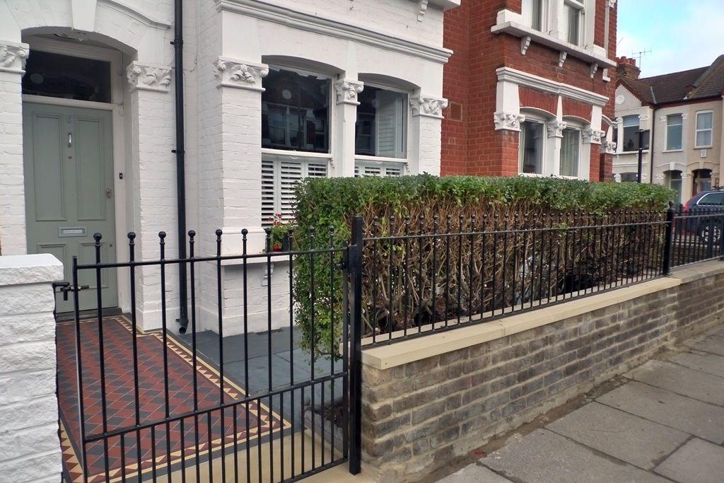 victorian front garden design london stock brick wall and railjpg 1024560 pixels garden ideas pinterest front gardens victorian front garden and