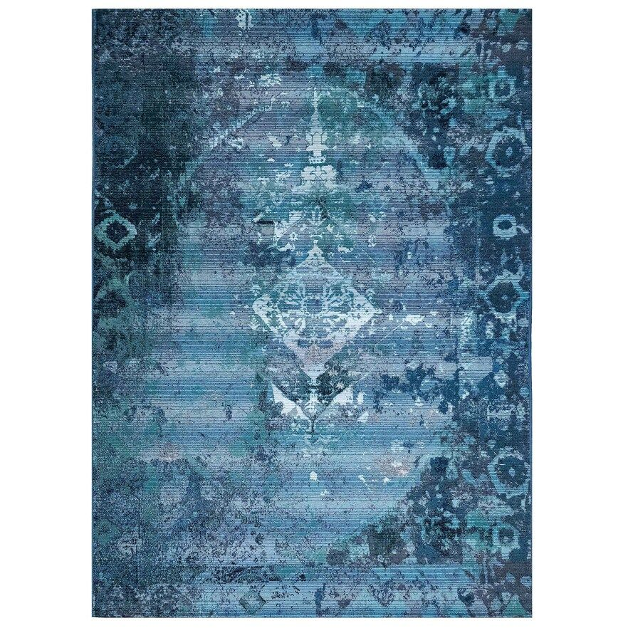 Liora Manne Marina Kermin Indoor Outdoor Rug Blue 5x7 5 Ft In 2020 Indoor Outdoor Area Rugs Outdoor Area Rugs Indoor Outdoor