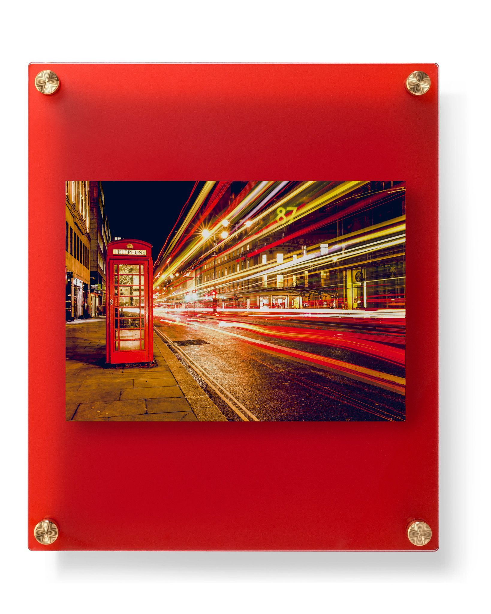 12x10 Ruby Frost Double Panel Floating Frame For 5x7 Photos