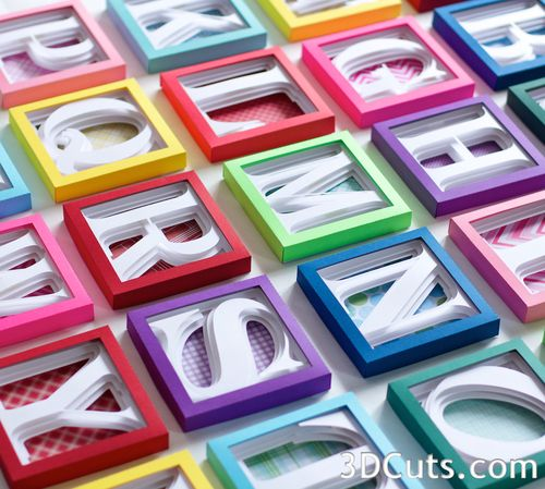 Complete Alphabet Set A Z 3dcuts Com Shadow Box Alphabet Paper Crafts