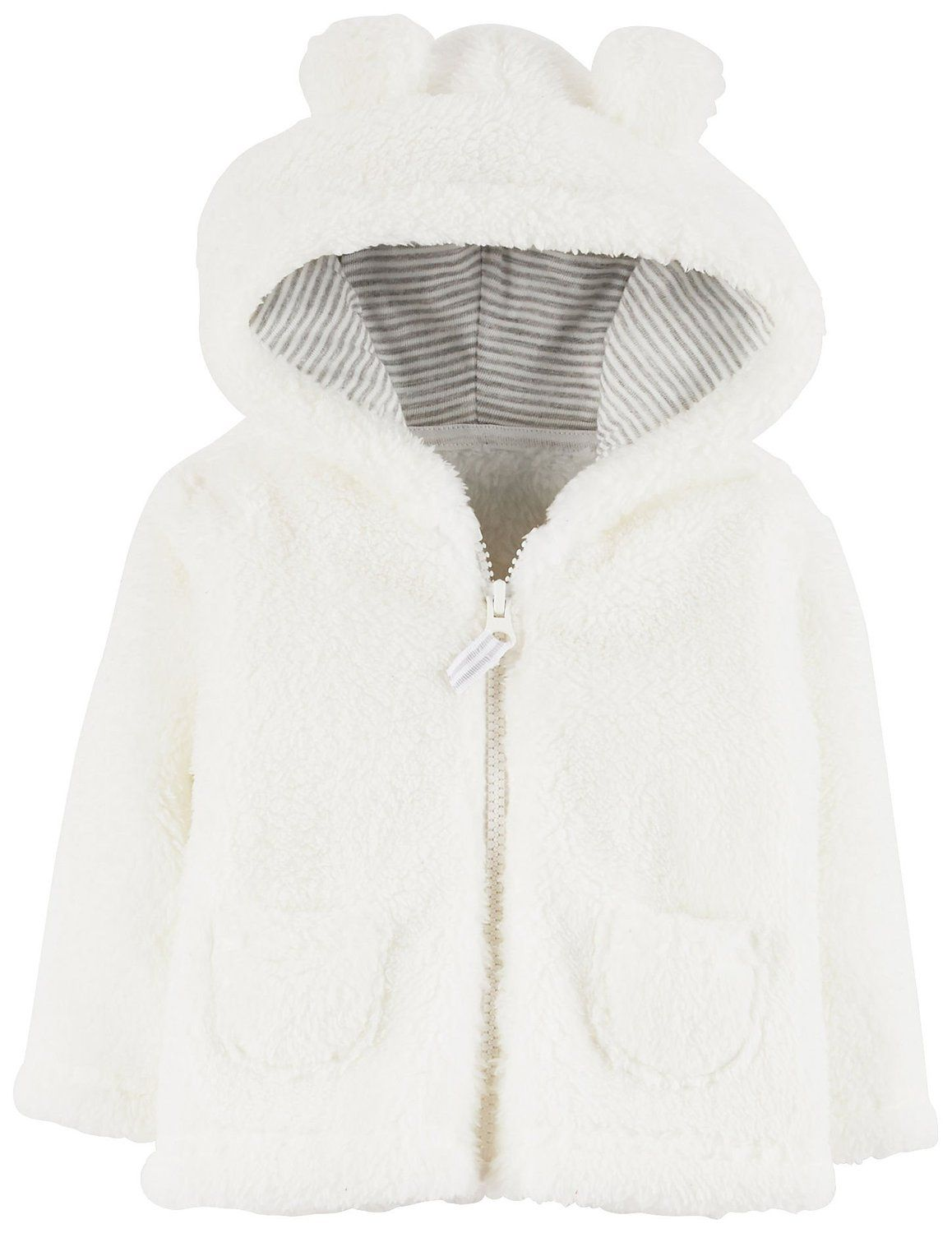 Simple Joys by Carters Baby Girls Hooded Sweater Jacket with Sherpa Lining