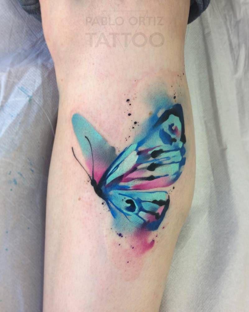 Tatuaje De Una Mariposa De Estilo Acuarela Watercolor Tattoos - Tatuajes-mariposa