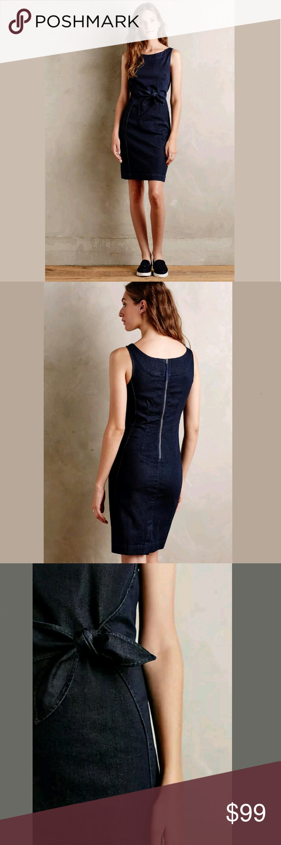 c2881d9bce Anthropologie Denim Sheath Dress Size S This is the beautiful Anthropologie  Dress known as the Anthropologie