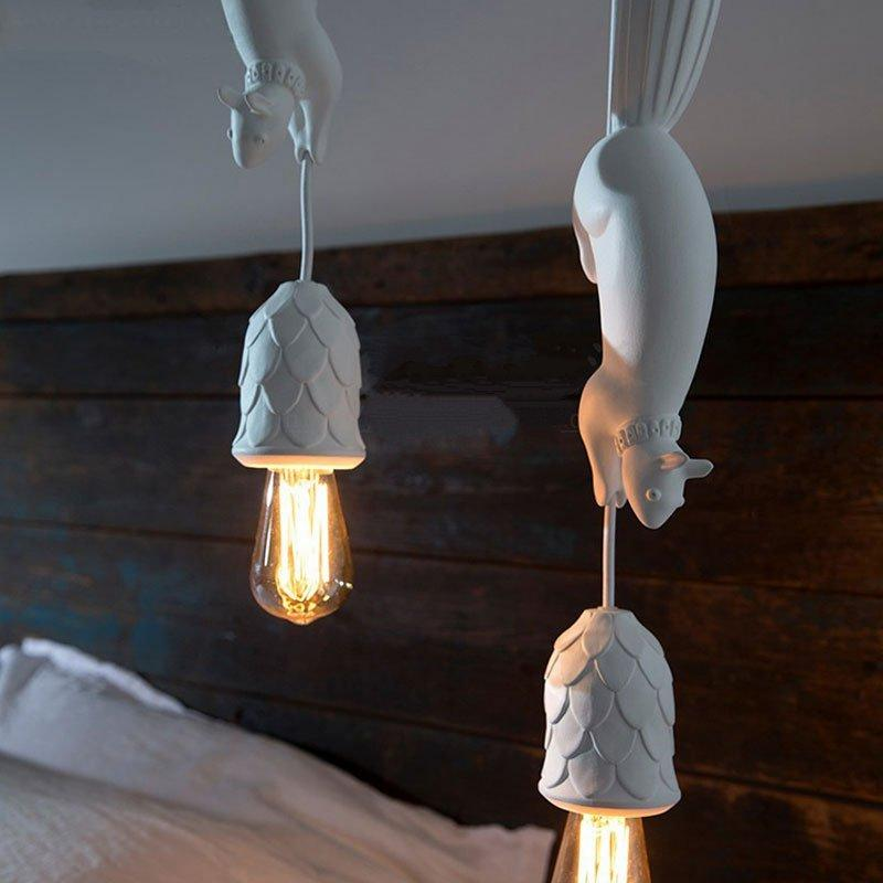 Nordic Squirrel Pendant Lighting Home Animal Light Fixtures Nordic