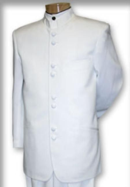 Mens Mandarin Collar White Suit. We have collection of Zoot Suit with unique design, color and brands.