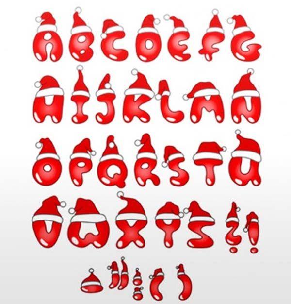 Christmas Graffiti Letters.Alphabet Letters Alphabet Letters A Z Styles Christmas