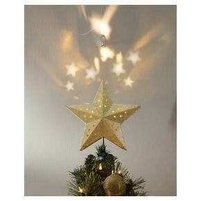 Target lit star projection tree topper | Merry Christmas ...