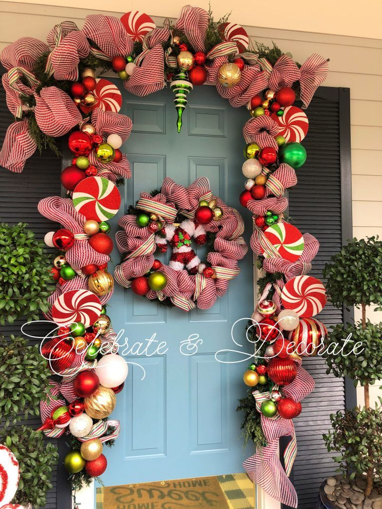 A Sweet Christmas Home Tour Celebrate Decorate Outdoor Christmas Garland Diy Christmas Garland Diy Christmas Door