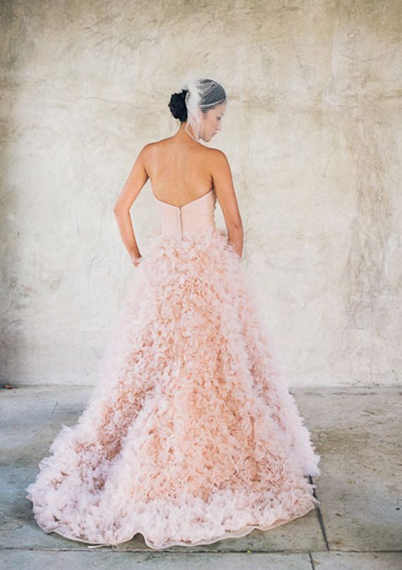 Sparkly Pink Modern Wedding 100 Layer Cake Pink Wedding Dresses Pink Wedding Gowns Wedding Dresses