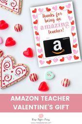 Photo of Amazon Teacher Valentine's Gift Card Holder | Rose Paper Press  Amazon Teacher V…
