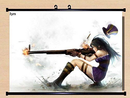 NEW Home Decor Anime League of Legends LoL Caitlyn Cosplay
