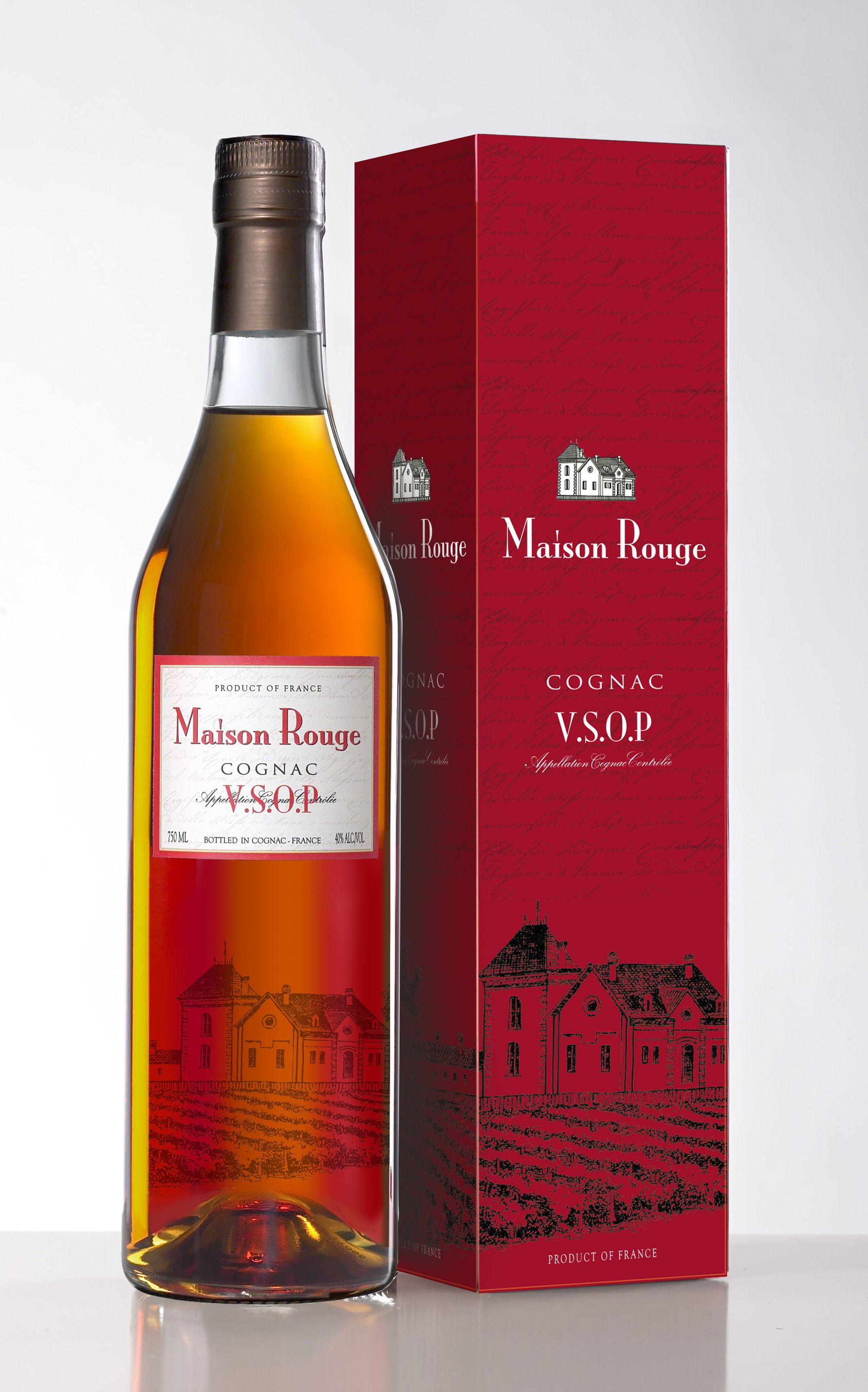 Maison Rouge V S O P In A Box Maison Rouge Vsop Is A Deep Mahogany Cognac This Eau De Vie Born On The Fruity Side Shows Mor Cognac France Cognac Wine Bottle
