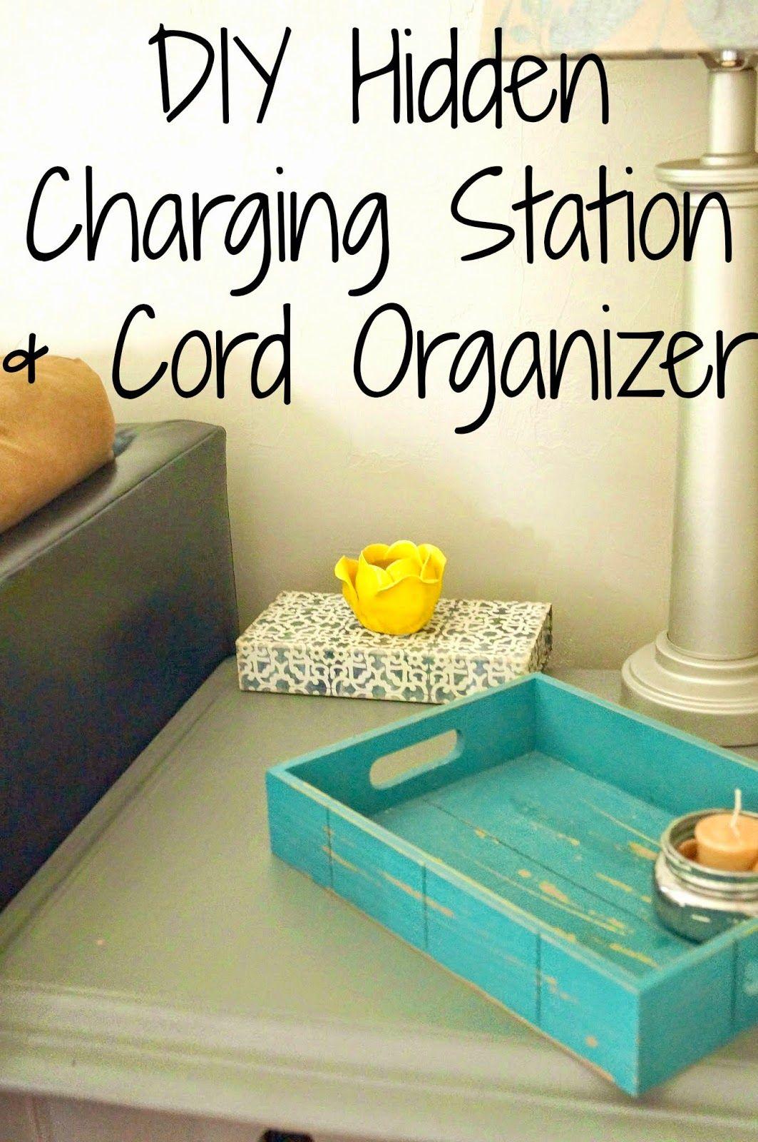 Diy Charging Station Cord Organizer Cord Organization Diy Box