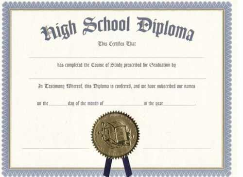 Printable Certificate Templates Free High School Diploma