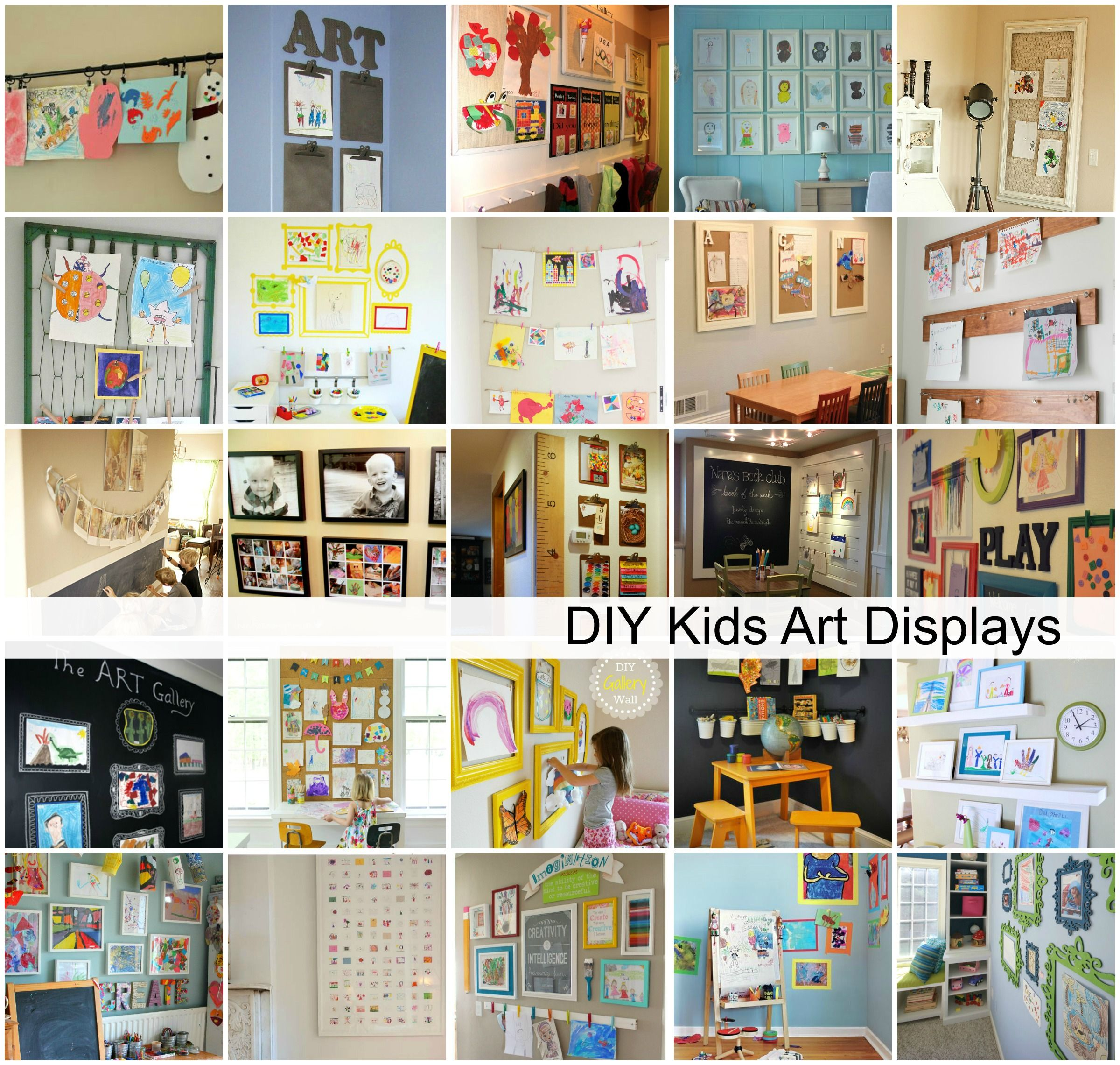 These Diy Kids Art Displays May Be A Great Way