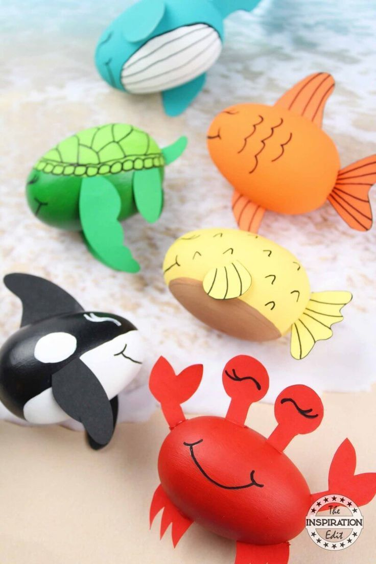 DIY Ocean Craft For Kids Blue Whale Crab And Fish · The Inspiration Edit