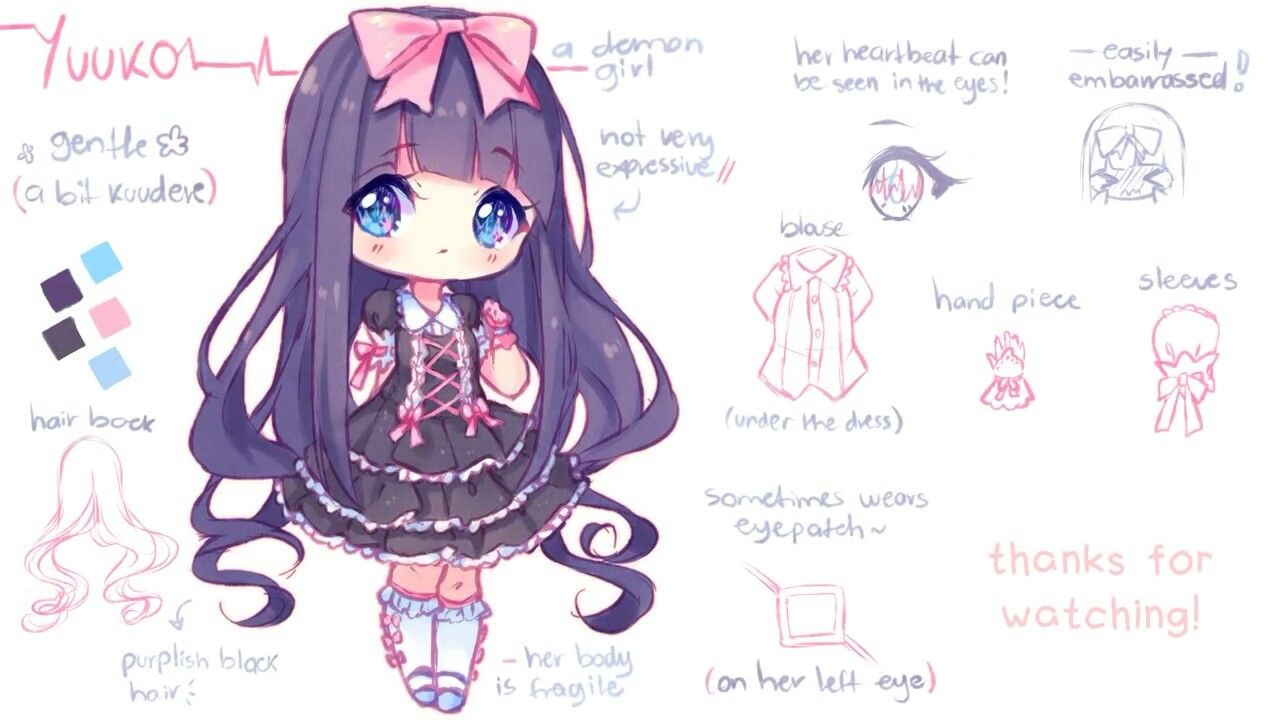 Hyanna Natsu Artist Check Her Out On Youtube Channel Hyanna Natsu Cute Anime Chibi Anime Character Design Cute Drawings