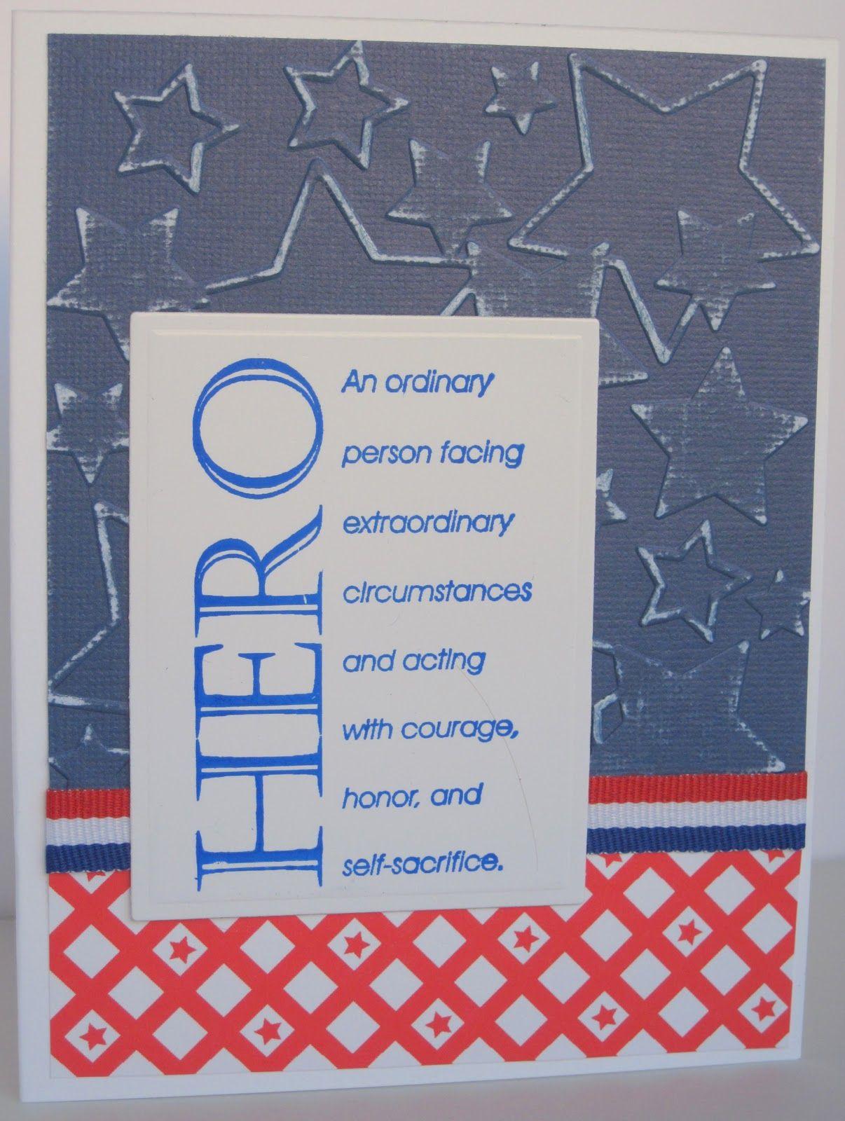 Paper Inspirations Hero Stamp Patriotic Card Handmade Cards