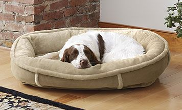 Give your dog the gift of ultimate comfort with our wraparound memory foam dog bed.