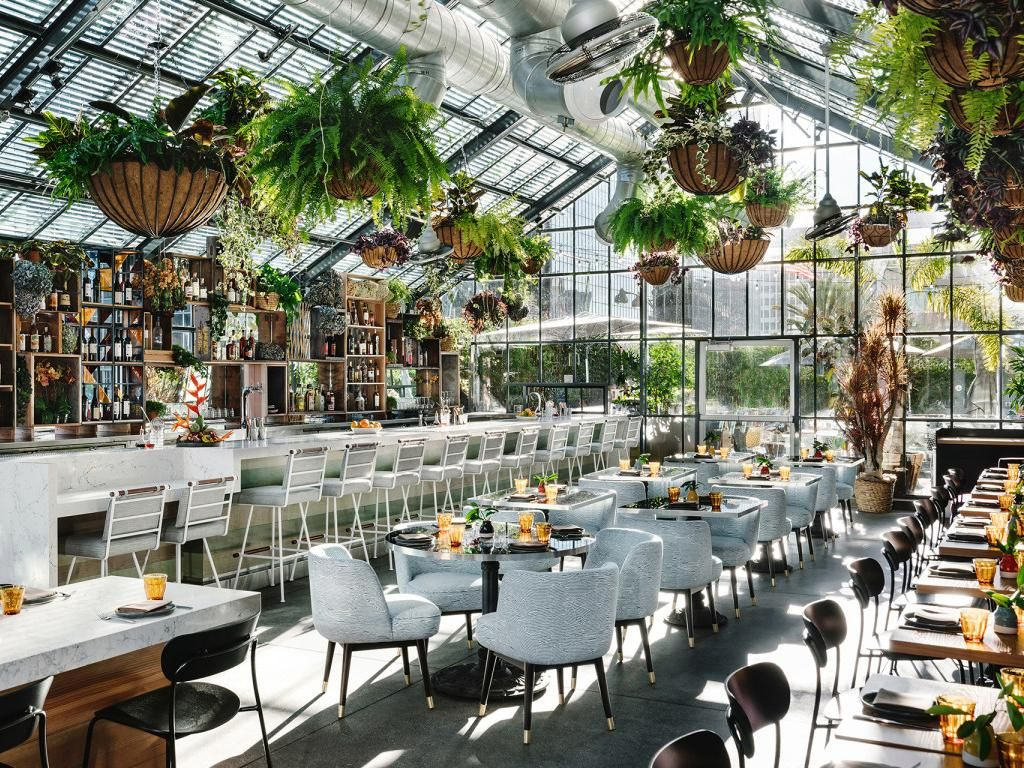 27 Unique Los Angeles Corporate Holiday Party Venues In 2020 Greenhouse Restaurant Los Angeles Hotels Indoor Planters